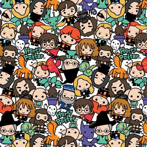 Harry Potter Wizarding World Kawaii Stack Toss Multicoloured 100% Cotton (Harry Potter 51)