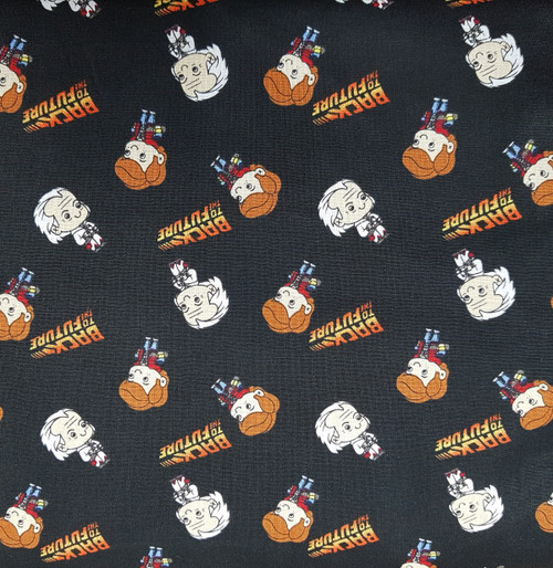 Back to the Future Marty & Doc Black 100% Cotton (Back to the Future 1)