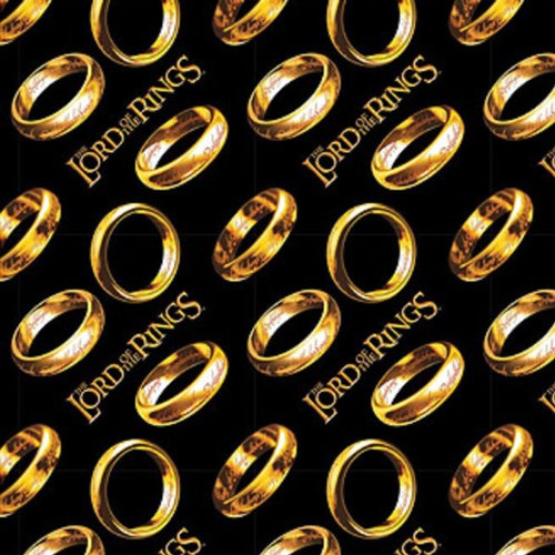Lord Of The Rings Tossed Rings Black 100% Cotton (Lord Of The Rings 1)