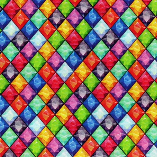 Chatham Glyn Packed Jewels Multicoloured 100% Cotton (CG Jewels)