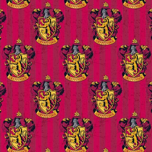 Harry Potter Gryffindor Red 100% Cotton (Harry Potter 5)