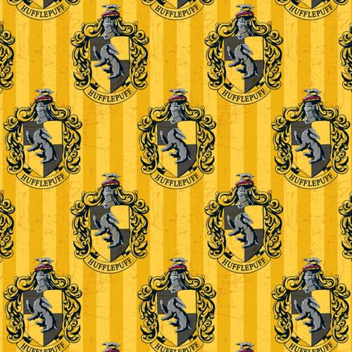Harry Potter Hufflepuff Yellow 100% Cotton (Harry Potter 7)