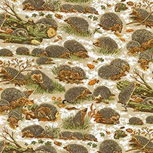 Cute Wandering Hedgehogs Nature 100% Cotton (Hedgehogs)