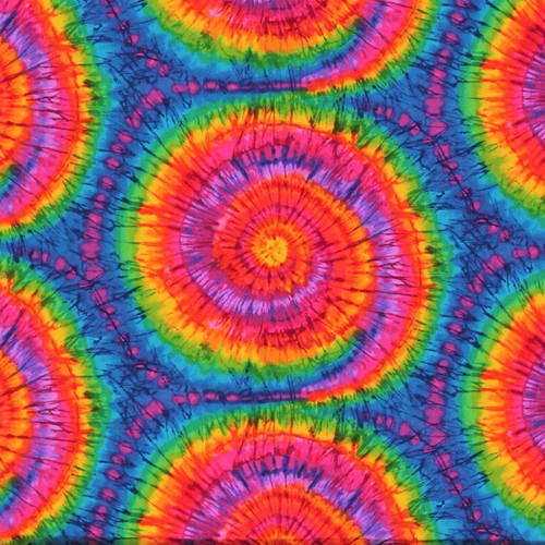 Timeless Treasures Tribeca Rainbow Tie Dye 100% Cotton (TT Tribeca Rainbow Tie Dye)