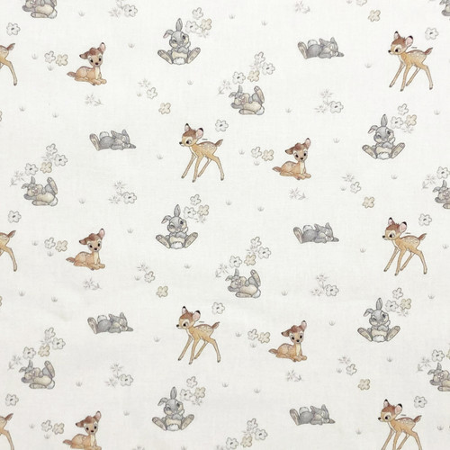Disney Bambi & Thumper White 100% Cotton (Bambi 27)