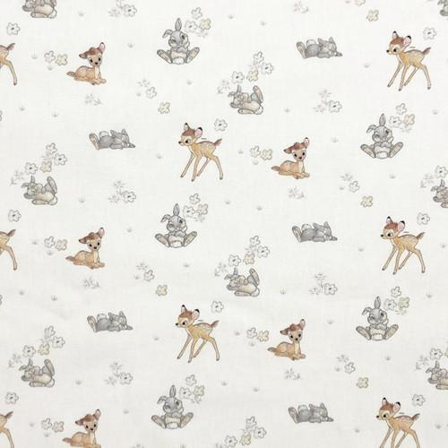 Disney Bambi & Thumper White 100% Cotton (CG Bambi 27)