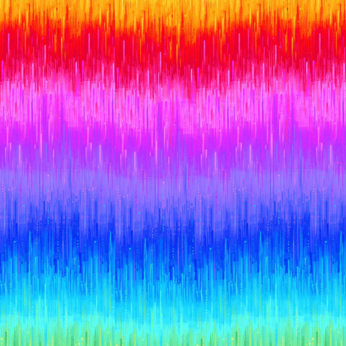 Timeless Treasures Rainbow Graduations 100% Cotton (TT Nightlife Electric Border Rainbow)