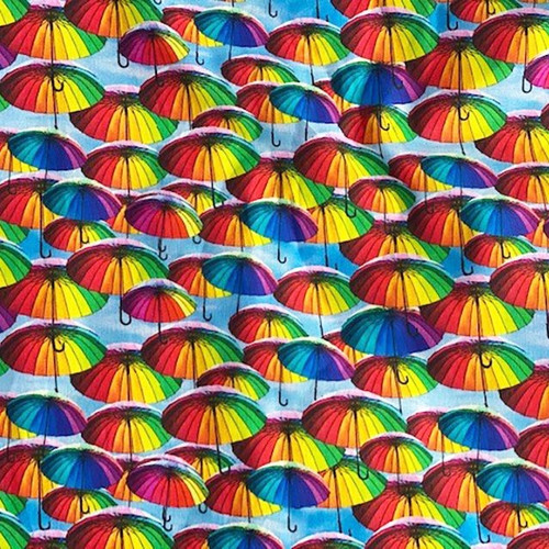 Digital Rainbow Umbrellas 100% Cotton (Digital Umbrellas)