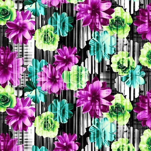 Studio e's Beauty In Bloom Bright Flowers 100% Cotton Remnant (63 x 112cm SE Beauty In Bloom 1)