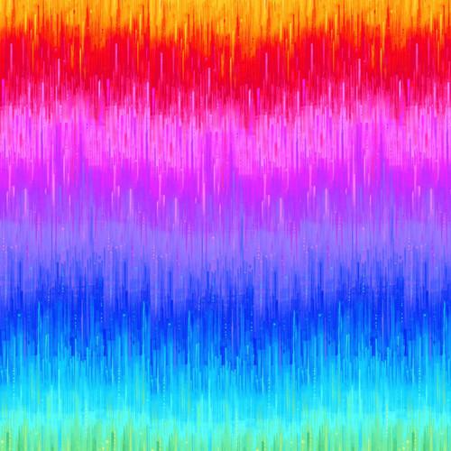 Timeless Treasures Rainbow Graduations 100% Cotton Remnant (40 x 112cm TT Nightlife Electric Border Rainbow)