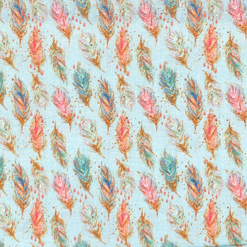 Chatham Glyn Chic Feathers Blue 100% Cotton (CG Chic 2)