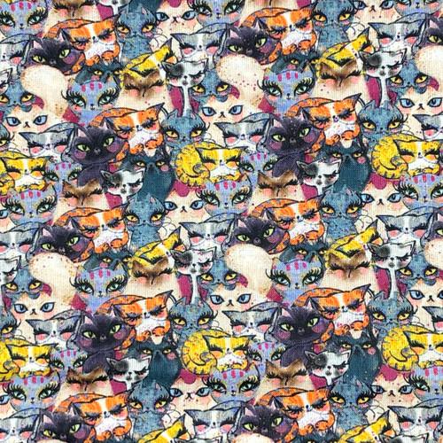 Chatham Glyn Cat Crowd 1 100% Cotton (CG Cat Crowd 1)