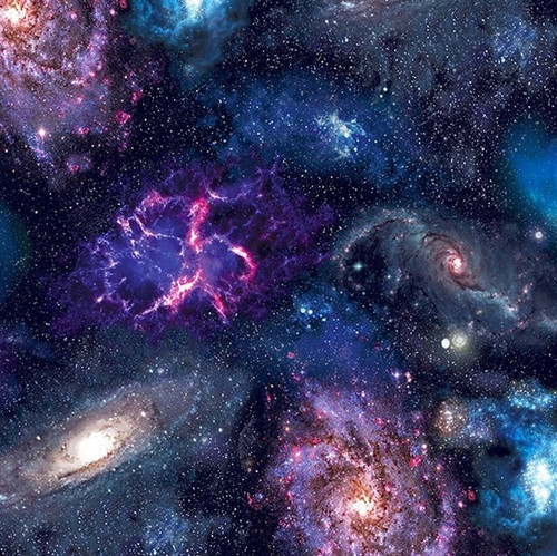 Bright Multicolored Galaxy 100% Cotton (Galaxies)