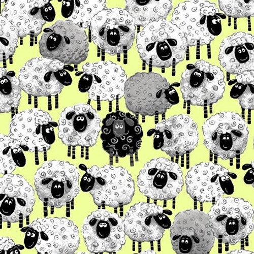 World Of Susybee Lewe The Ewe Packed Sheep Green 100% Cotton (Susybee 14)