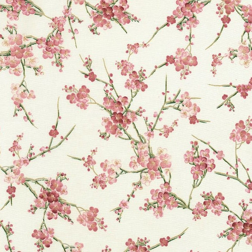 Timeless Treasures Sakura Metallic Cherry Blossom Cream 100% Cotton (TT Cherry Blossom)