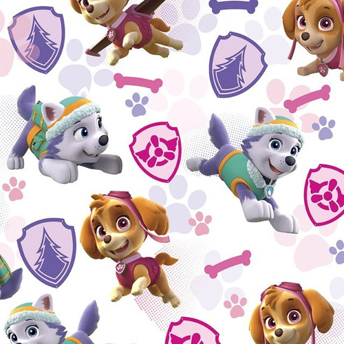 Digital Paw Patrol Girls Everest & Skye To The Rescue White 100% Cotton (Paw Patrol 2)