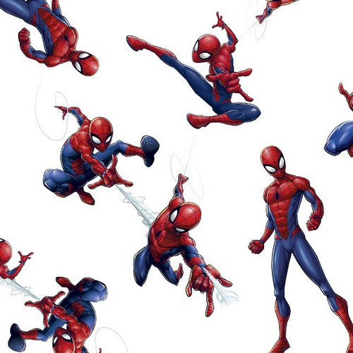 Digital Spiderman In Action White 100% Cotton (Spiderman 9)
