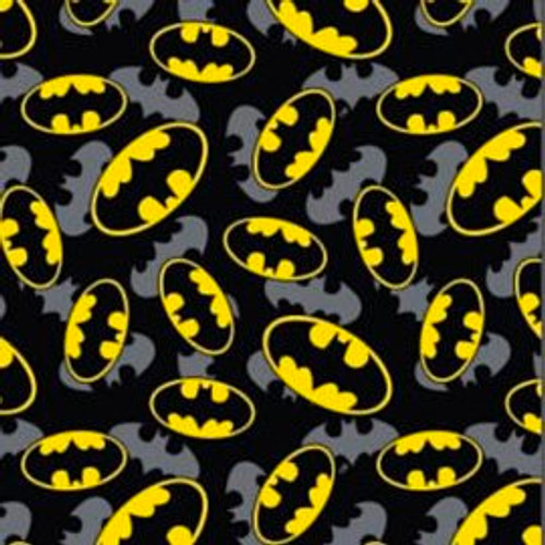 DC Comics Batman Overlay Batman Logo Black 100% Cotton (Batman 6)