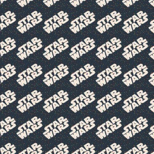 Disney Star Wars Dotty Words Navy 100% Cotton (Star Wars 22)