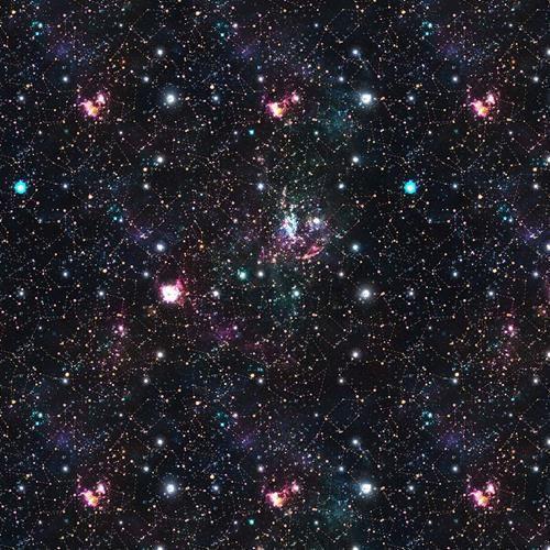 Chatham Glyn Space Far Away Stars Galaxies Blue 100% Cotton (CG Space 4)