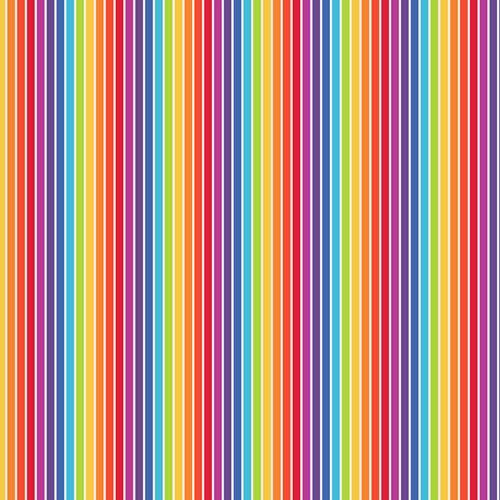 Chatham Glyn Rainbow Small Stripes Multicoloured 100% Cotton (CG Rainbow 5)