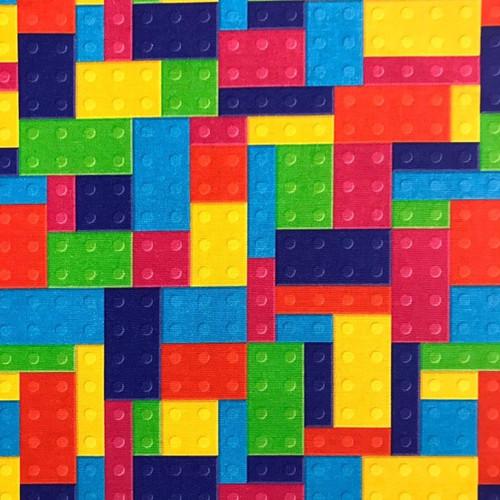 The Vintage Sweetheart Toy Construction Blocks Multicoloured 100% Cotton (VS Construction Blocks 1 - 1 METRE PIECE)