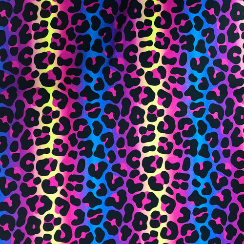 The Vintage Sweetheart Multicoloured Leopard Cat Print 100% Cotton (VS Groovy Bengal Leopard - 1 METRE PIECE)
