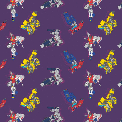 Hasbro Transformers Galaxy Collection In Action Purple 100% Cotton Remnant (45 x 110cm Transformers Galaxy 1)