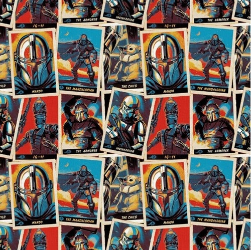 Disney Star Wars The Mandalorian Character Trading Cards 100% Cotton Remnant (63 x 110cm Mandalorian 2)