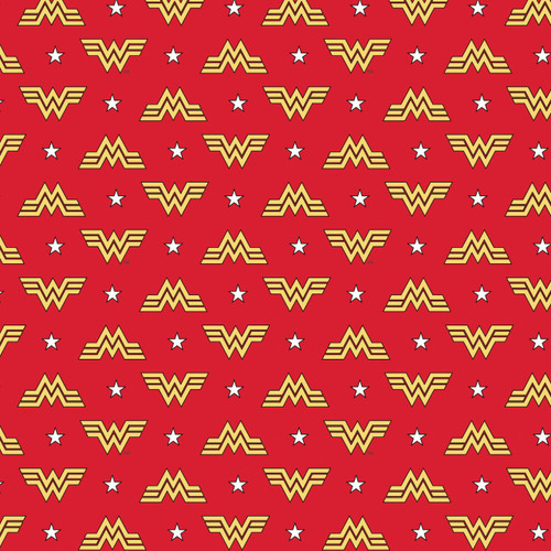 DC Comics Wonder Woman 1984 Collection Logo Red 100% Cotton (Wonder Woman 4)