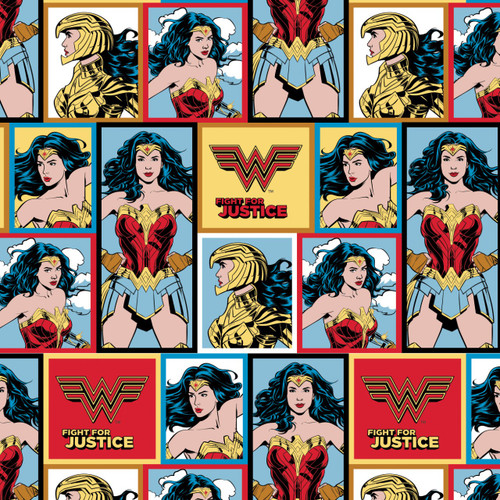 DC Comics Wonder Woman 1984 Collection Blocks Multicoloured 100% Cotton (Wonder Woman 5)