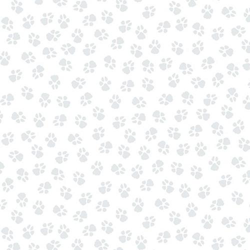 Benartex Dog On It Paw Prints White 100% Cotton (Benartex Dog On It 12)