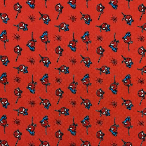 Disney Marvel Spiderman Kawaii Red 100% Cotton (Spiderman 10)