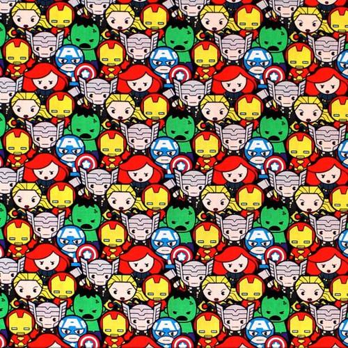 Disney Marvel Superheroes Avengers Assemble Stacked Kawaii 100% Cotton (Kawaii Superheroes 3)