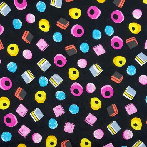 Craft Cotton Co. Allsorts Sweets Black Liquorice 100% Cotton (Allsorts)