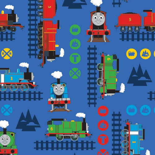 Craft Cotton Co. Thomas & Friends Train Adventure Blue 100% Cotton (Thomas The Tank Engine 1)