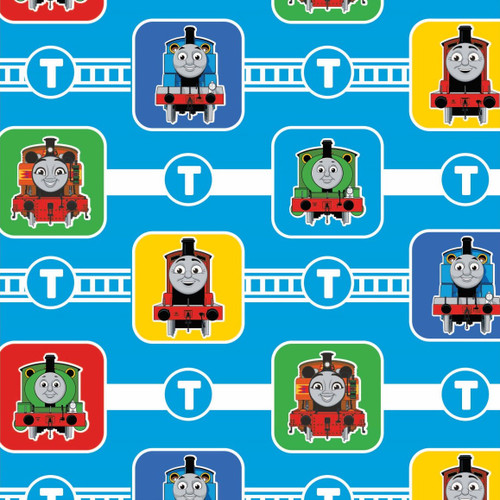 Craft Cotton Co. Thomas & Friends Character Blocks Blue 100% Cotton (Thomas The Tank Engine 5)