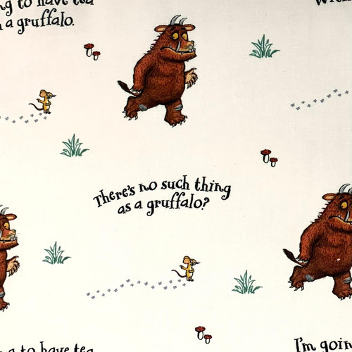 Craft Cotton Co. Julia Donaldson The Gruffalo There's No Such Thing... White  100% Cotton (The Gruffalo 1)