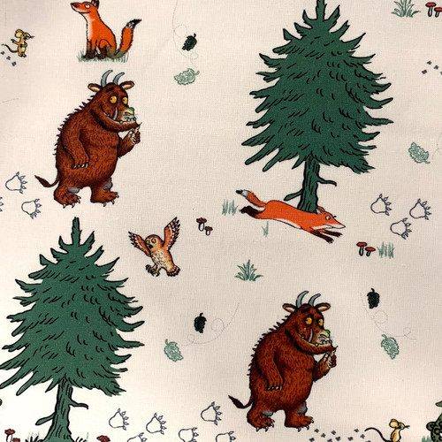 Craft Cotton Co. Julia Donaldson The Gruffalo Walk In The Woods White 100% Cotton (The Gruffalo 3)