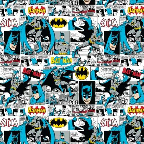 DC Comics Batman Comic Book White 100% Cotton (Batman 17)