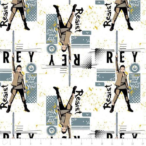 Star Wars The Last Jedi Rey White 100% Cotton Remnant (50 x 110cm Star Wars 15)