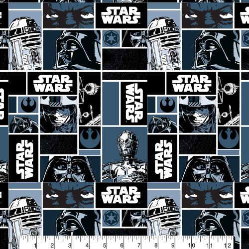 Star Wars Darth Vader Grid Cotton Remnant (50 x 110cm Star Wars 11)