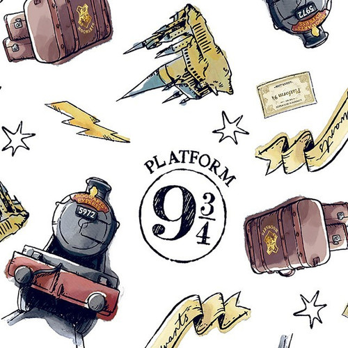 Harry Potter Digital Platform 9 and 3/4 100% Cotton (Harry Potter 38)