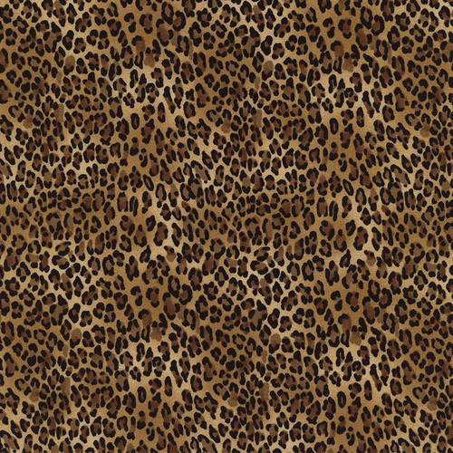 Timeless Treasures African Prints Tiny Leopard Skin Brown 100% Cotton (TT Tiny Leopard)