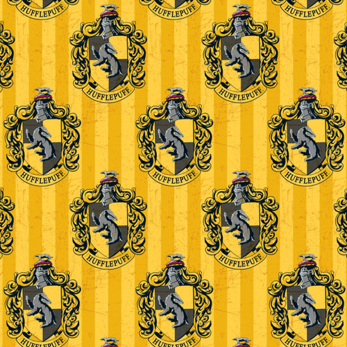 Harry Potter Hufflepuff Yellow 100% Cotton Remnant (67 x 110cm Harry Potter 7)