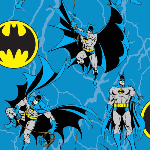 Batman Rope Blue 100% Cotton Remnant (58 x 110cm Batman 3)