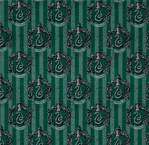 Harry Potter Slytherin Green 100% Cotton Remnant (56 x 110cm Harry Potter 6)