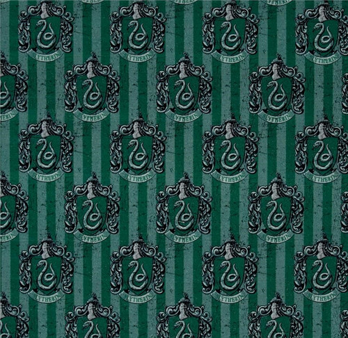 Harry Potter Slytherin Green 100% Cotton Remnant (49 x 110cm Harry Potter 6)