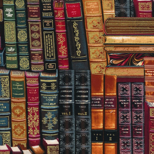 Timeless Treasures Books In The Library 100% Cotton Remnant (27 x 112cm TT Packed Books)