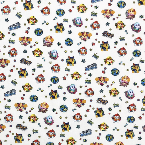 Paw Patrol Characters 100% Cotton Remnant (75 x 140cm Paw Patrol 1)